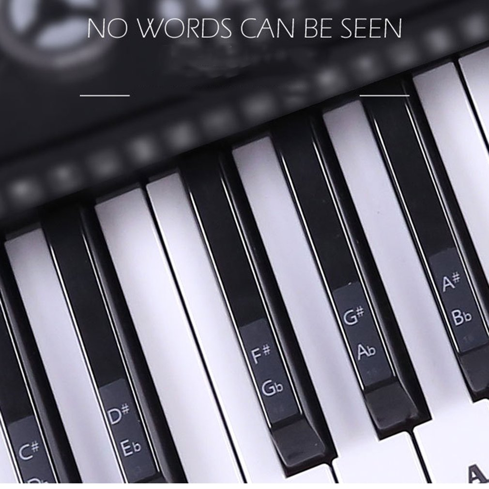 Transparent Piano Note Label