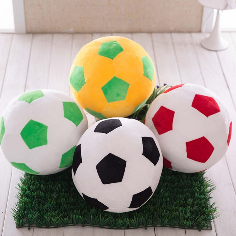 25cm Football Shape Stuffed Doll Mascot Ball Soccer Plush Toy Kids Baby Gift New Y4QA