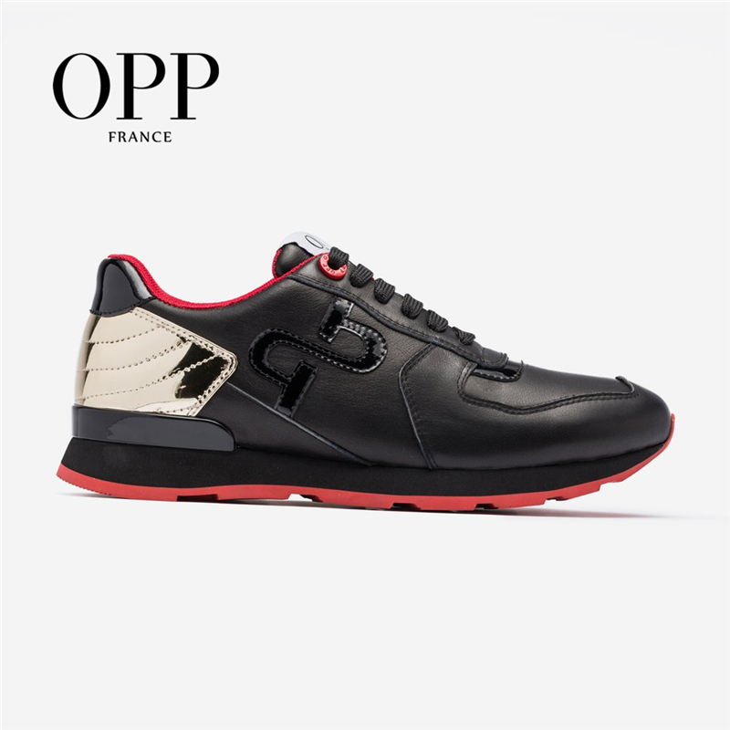 OPP Men's Shoes Large Size Sports Shoes Fashion Men's Lace-up Casual Shoes  Comfortable  Genuine Leather Sneaker