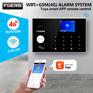 Image 2 - 新しいワイヤレスwifi 4グラム/gsmホームセキュリティ警報システム装備3ペア100m irビームチュウヤ/スマートライフアプリ制御警報
