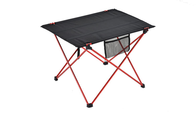 Outdoor Aluminium Alloy Ultra Light Folding Desk Portable Foldable Table Camping  Furniture Computer Bed Table Picnic 56x42x37cm
