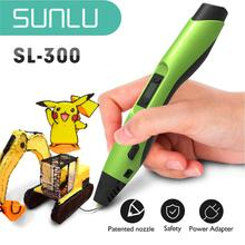 SUNLU 3D Pen SL-300 best DIY gift with Refill PLA/ABS Filament 1.75mm With Intelligent Printing Lcd Screen White Color