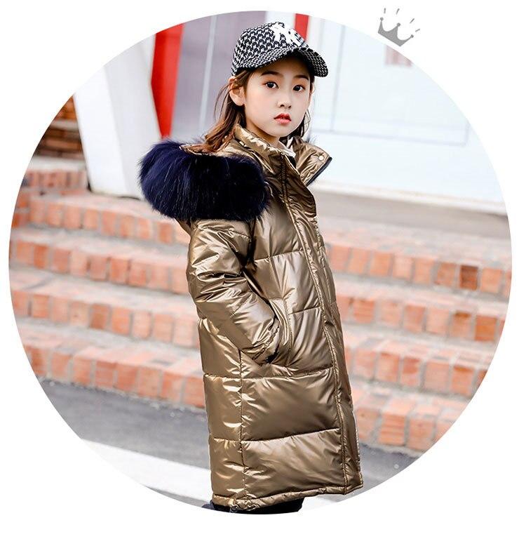 Jaqueta brilhante unissex de inverno, casaco quente