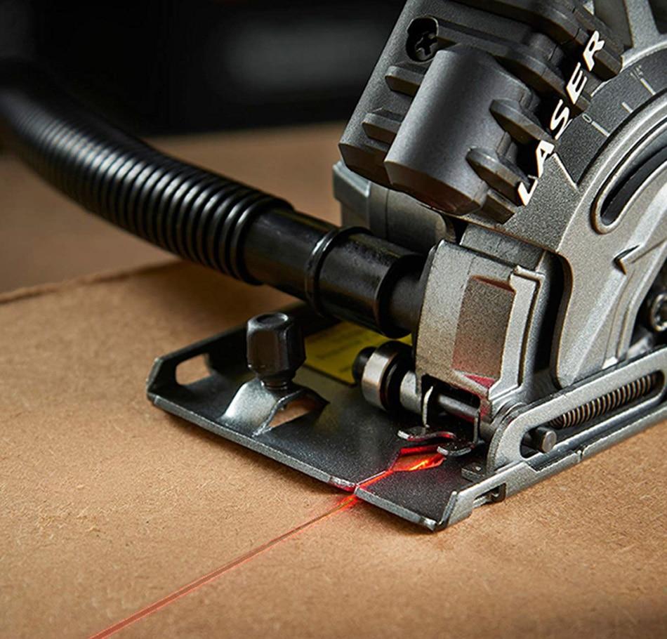 600 Вт Электрический электроинструмент, электрическая мини-циркулярная пила с лазером, DIY многофункциональная электрическая пила для резки дерева, ПВХ трубки, плитки