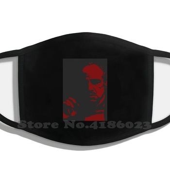 Godfather Design Funny Cool Cotton Face Mask Godfather Il Padrino Marlon Brando Movie Cinematography Hollywood image