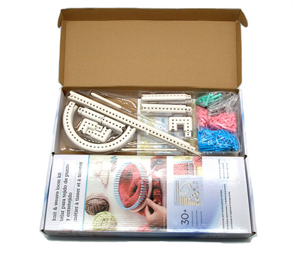 Multi-Function Craft Yarn 5000-100 Martha Stewart Crafts Knit and Weave Loom Kit DIY Tool Adjustable Accessories Knitting Board