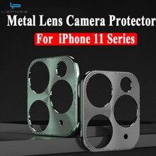 Anillo Protector de lente de cámara para iPhone 11 Pro, cristal templado para iPhone 11Pro MAX 2019, Protector trasero de teléfono de aleación de Metal