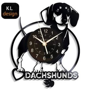 Dog LED Vinyl Wall Clock Dog P