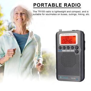Image 3 - Retekess TR105 Air Band Radio portatile FM AM SW VHF Radio a banda intera ricevitore CB altoparlante di allarme digitale con Antenna estesa