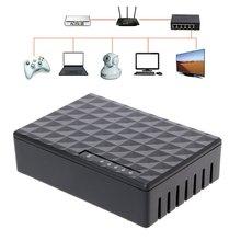 Rj45 мини 5-Порты и разъёмы коммутатор для высокоскоростной сети Ethernet концентратор для настольных ПК черный 110V Ethernet-коммутатор и концентратор 10/100 Мбит/с
