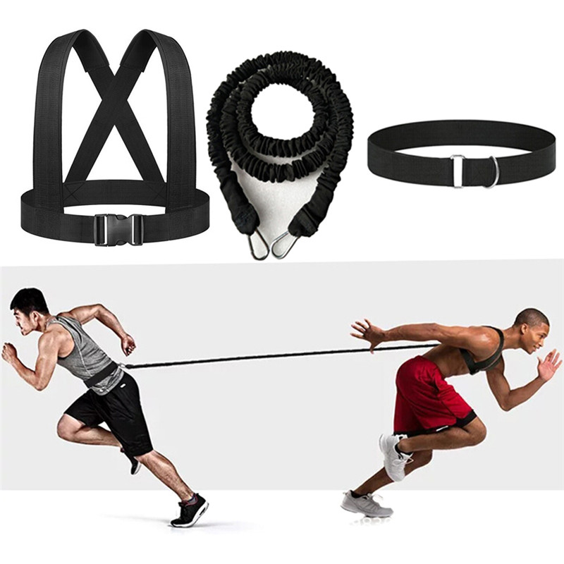 Men's Resistance Band Bungee Fitness Speed Trainer For Agility Running Training Sprint Workout Latex Gym Rope Exercise Equipment