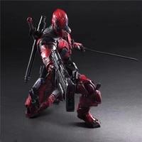 26cm Play Arts Deadpool Action Figures Doll Super Hero X Man Playarts PA Deadpool Jointed Toy Kids Boy Christmas Gift