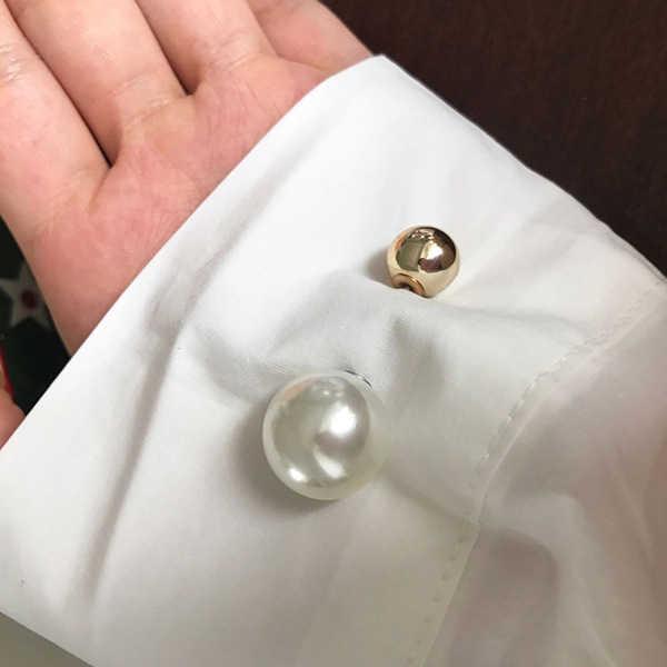 Klasik Penjualan Panas Baru Fashion Sederhana dan Serbaguna Double-Headed Mutiara Pin untuk Shirt Sweater Pin Wanita K2