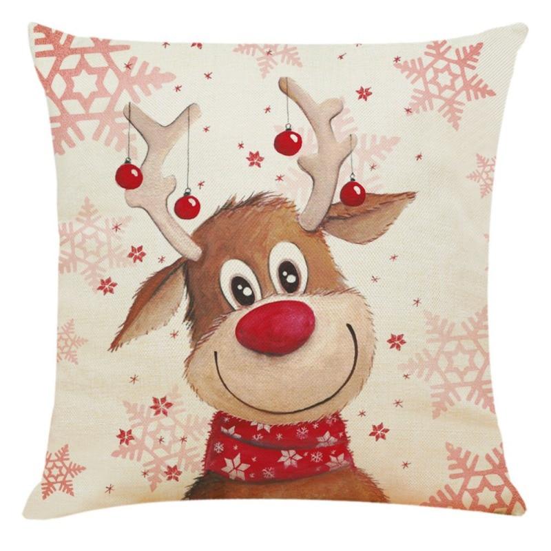 Di Natale Coperture per Cuscini Coperture Divano 45X45 Cm Copertura Del Cuscino di Arte Moderna Fantasia Decorativa di Natale Federe Decorativi
