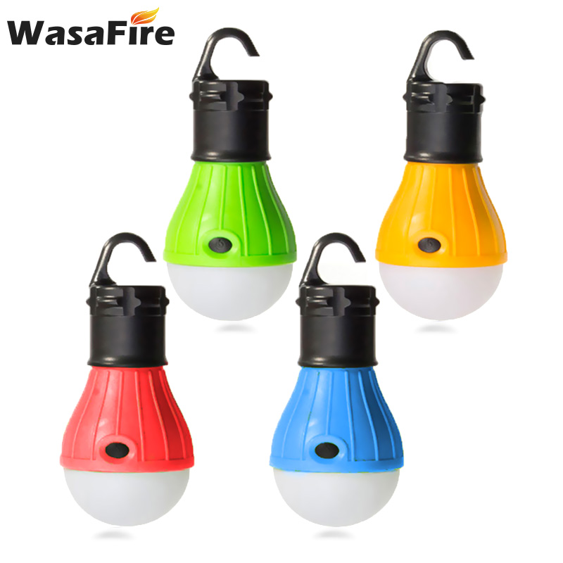 5pcs/lot 3-Leds Hanging LED Bulb Soft Light Portable Outdoor Tent Camping Lamp Torch Waterproof AAA Lanterns Night Lights