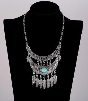Collar con colgante gitano, turco, étnico, Hippy, bohemio, Tribal, tibetano, Collar COLGANTE, Gargantilla de plata antigua, Collier