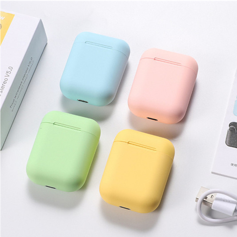 Inpods 12 Inpods12 UP Version I12 Matte Wireless Bluetooth 5.0 Headphones Earphones 3D Bass Sound Earbuds I7s I9s I11 I12 Tws