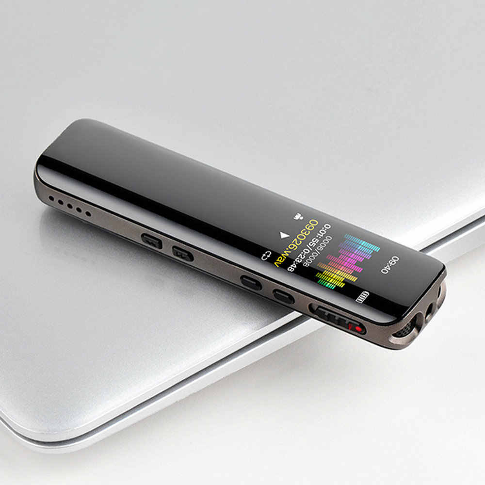 8G 16G 32G מקליט קול MP3 נגן מקצועי הקלטת עט דיגיטלי דיקטפון אודיו להקליט קול תמיכה עד כדי 32GB TF כרטיס