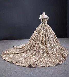 Image 3 - J67081 jancember Khaki plus size long evening gowns boat neck off shoulder appliques dubai evening dresses sukienki wieczorowe