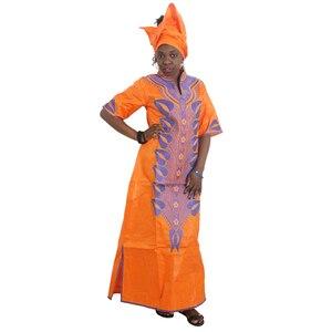 Image 5 - MD 2020 bazin riche דאשיקי נשים שמלת מסורתי אפריקאי שמלות לנשים רקמת דפוס עם אבנים 2020 אפריקה בגדים