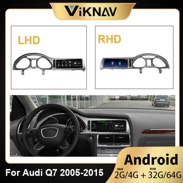 2 Din Android Car Multimedia Player For-AUDI Q7 2005 -2015 Car HD Screen WIFI Stereo Radio Player GPS Navigation head unit