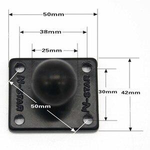 Image 5 - Jadkinsta 1 או 1.5 אינץ גומי כדור הר כדי אלומיניום אופנוע עגול כיכר הרכבה בסיס לgopro מצלמה טלפונים סלולריים