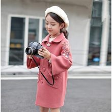 Girls Woolen Coat Autumn and Winter Wear New Korean Fashion Foreign Trade Children Autumn and Winter Woolen Coat 12(China)
