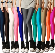 Candy Colors Womens High Stretched  Autumn Summer Best Selling Neon Leggings 1270