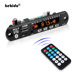 Kebidu 2*3W amplificateur voiture MP3 WMA décodeur carte 3.7V 5V 12V Bluetooth 5.0 Module Audio USB AUX TF Module Radio FM