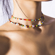 6 Colors Bohemian Candy Color Beads Choker Necklace Boho Rainbow Handmade Jewelry Womens Accessories