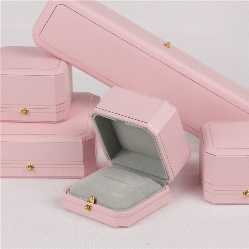Newest Fashion Pink Jewelry Packing Boxes Marriage Ring Box High-grade Pendant Gift Boxes And  Birthday Gift Case For Sweetheart
