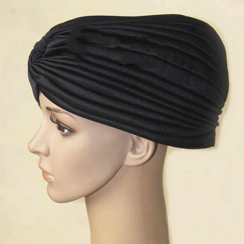 Модные женские хиджаб тюрбаны кепки мусульманская твердая шляпа мусульманские индийские шапки новинка-OPK