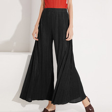 LANMREM 2020 Pleated Wide Leg Pants High