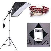 3PCS 4 In 1 Lamp Holder Softbox Lampe Tripod Set With Portable Hand Bag Super Stable Light Stand Kit For Photographers