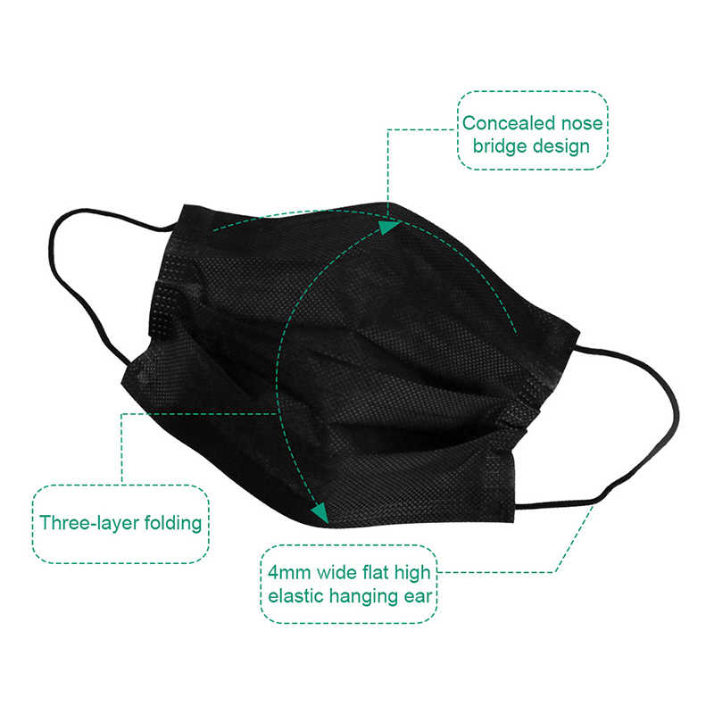 Cycling PM2.5 Disposable Mask Anti-pollution Mask Adult Unisex Protective Fabric Dust Mask Single Packed in stock new