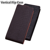 Luxury Business Genuine Leather Vertical Flip Case For ZTE AXON 10 Pro/ZTE AXON 7 A2017 Phone Cases Funda Standing Flip Covers