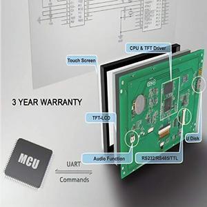 Image 2 - Ekran HMI LCD programlanabilir kontrol ve dokunmatik ekran + UART seri arayüzü