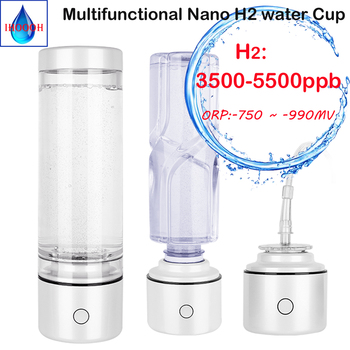 Nano SPE&PEM High hydrogen Rich concentration H2 water bottle 3500-5500ppb hydrogen water generator Breathing hydrogen water management of pem fuel cell stack