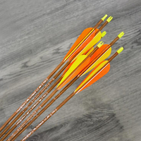 12pcs Archery Carbon Arrow OD6.2mm Arrow Spine 700 With Turkey Feather For Compound Recurve Bows/Longbow