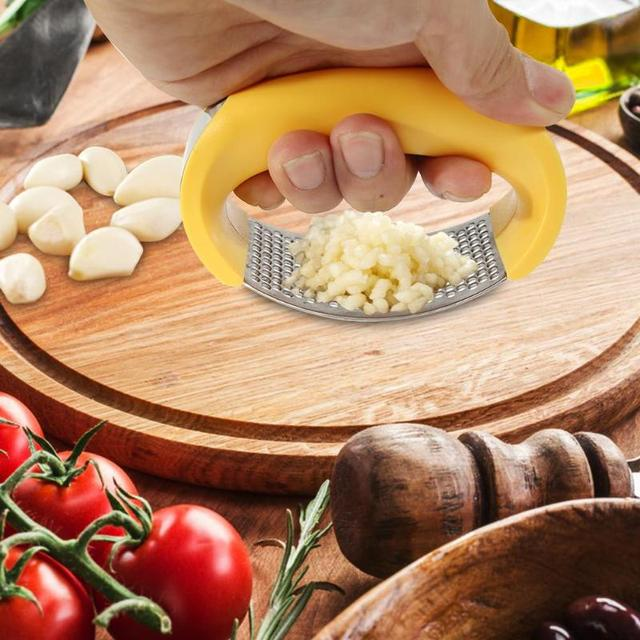 Multi-function 430 Stainless Steel Garlic Presses Grinder Slicer Cutter kitchen Accessories fruit and vegetable tools