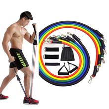 15 sztuk zestaw taśm oporowych gumy do fitnessu odporność na wyposażenie siłowni gumy do ćwiczeń ciągnąć linę Fitness elastyczne trening Expander tanie tanio Unisex CN (pochodzenie) Do kompleksowych ćwiczeń sprawnościowych Do ćwiczenia mięśni klatki piersiowej Resistance Band set
