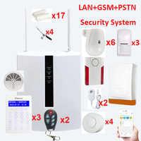 FC7688 Plus 8 + 88 Verdrahtete Zonen Sicherheit Alarm System LAN + GSM für große haus anti-diebstahl mit motion detektoren und alarmierend sirenen