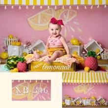 Фон для фотосъемки новорожденных с изображением фруктов детского