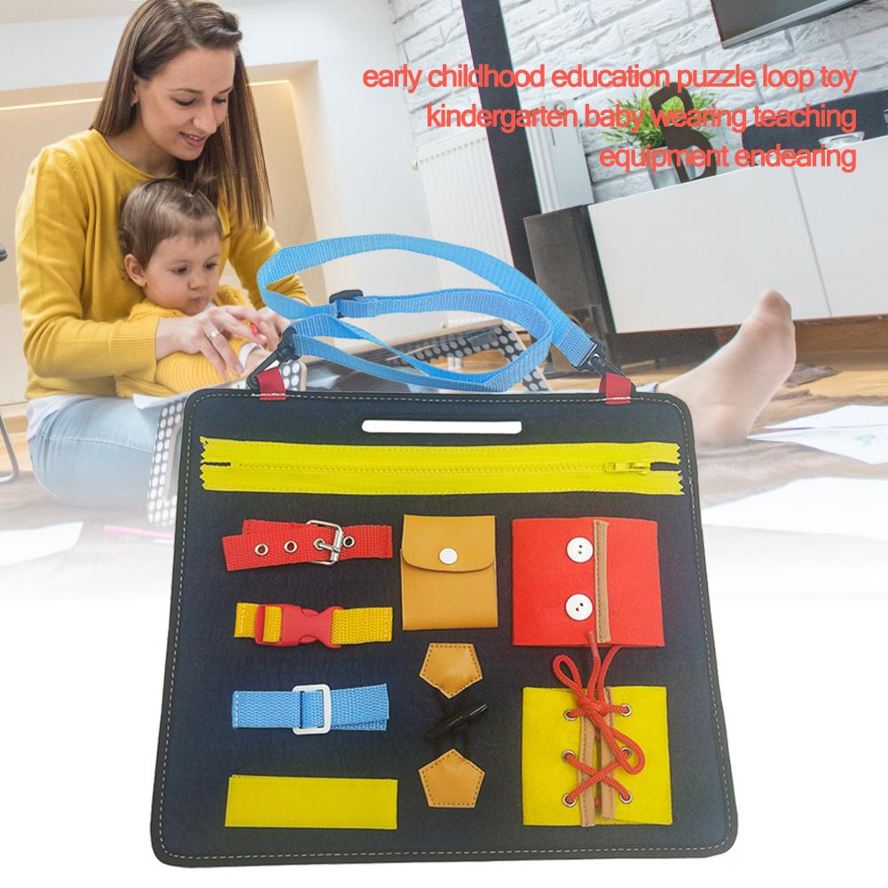 children/'s toys education 1-5 years old toy board learning dressing buckle