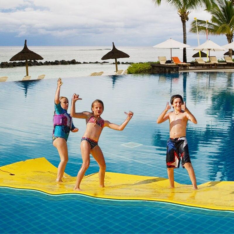 Sobre el agua flotante juguete manta de agua almohadilla de cama flotante manta de agua más suave flotador tipo alfombra entretenimiento al aire libre - 2