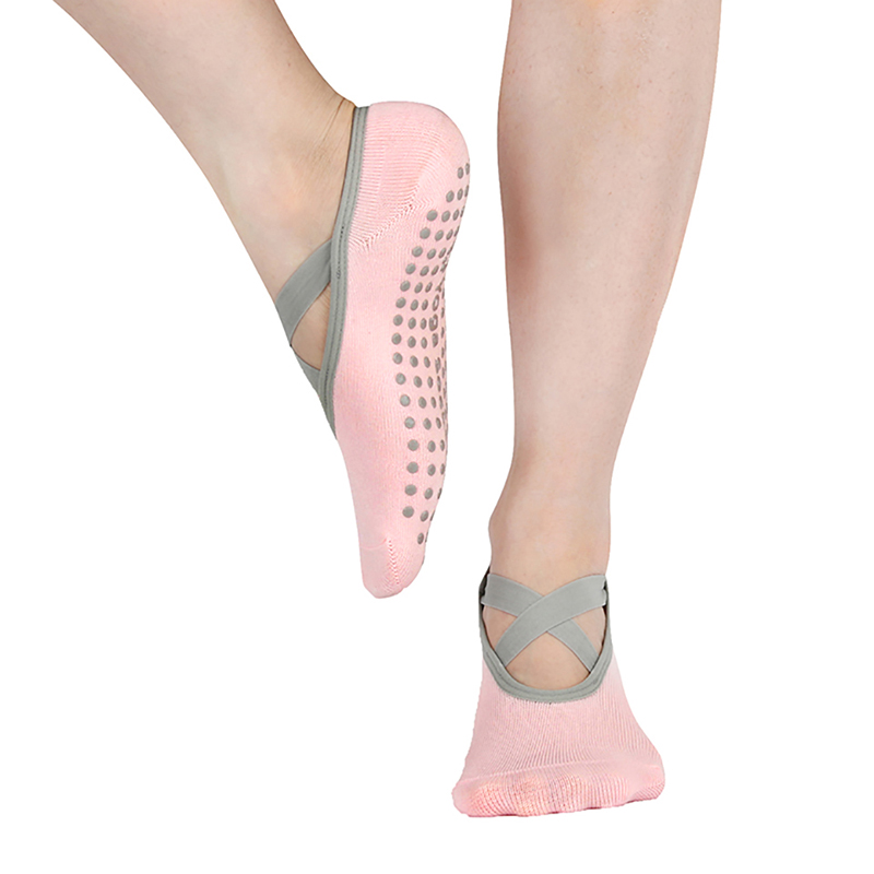 Womens Yoga Socks Low Cut Anti Slip Sticky Bottom Workout Pilates Grip Sock For Woman Dance Slippers Fitness Ballet Socken