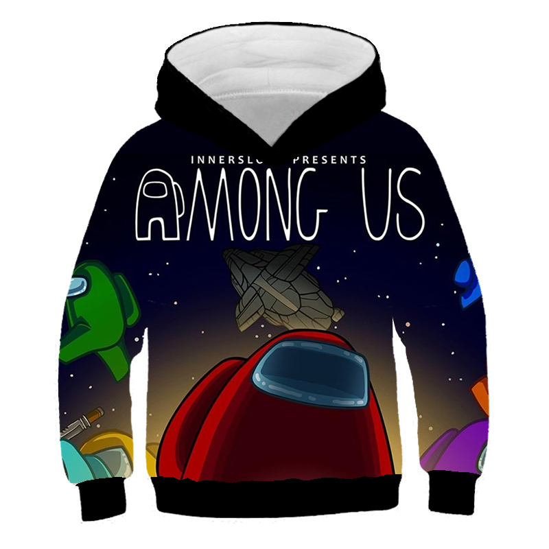 Am-ong Us Pullover Hoodies Youth Hooded Sweatshirts with Pocket Fashion Outwear Jacket for Kids Teen Boys Girls