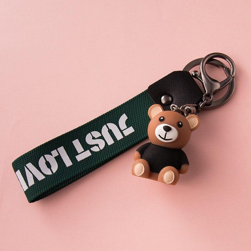 Медвежонок цепочка для ключей кулон творческой личности автомобиля милые мужские и женские цепь влюбленных для ключей сумка Подвеска