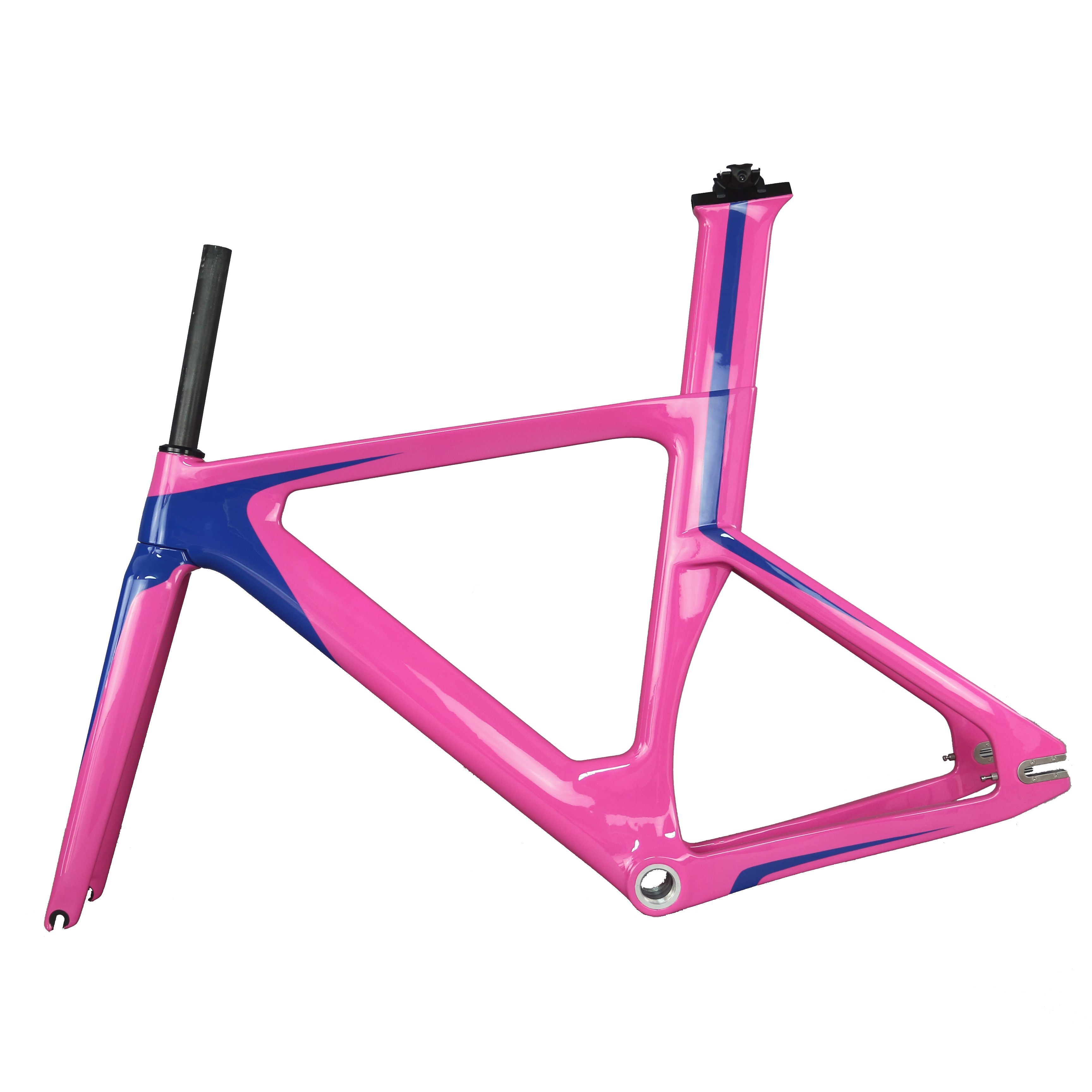 2019 Toray Carbon Fiber  T800  Track Frame Road Frames Fixed Gear Bike Frameset With Fork Seat Post  Bicycle Frame TR013