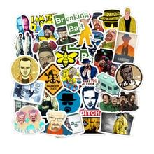 50PCS U.S. Drama Breaking Bad Stickers Graffiti Sticker For Luggage Skateboard Phone Laptop Bicycle Wall Guitar Sticker